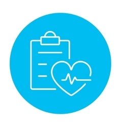 Heartbeat record line icon vector