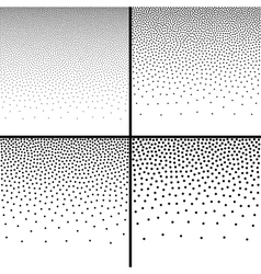 Set of abstract gradient halftone dots backgrounds vector