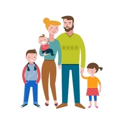 Gay families happy family couple with kids vector