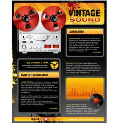 Vintage stereo shop vector