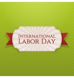 International labor day holiday white tag vector