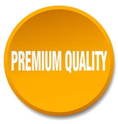 Premium quality orange round flat isolated push vector