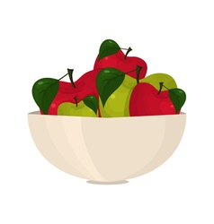 Abstract bright apples in a bowl vector