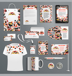 advertising promo items japanese cuisine vector image