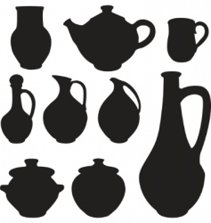 antique silhouette set ware vector image