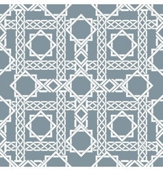 Arabic seamless pattern with intersecting stripes vector image vector image