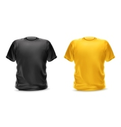 Black and yellow t-shirts vector image vector image