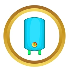 Boiler water heater icon vector