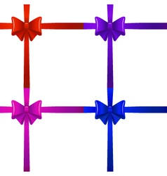 Bows with ribbons vector