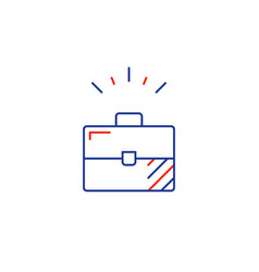 business development line icon sole entrepreneur vector image vector image