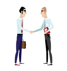 Businessmen shaking hands vector image