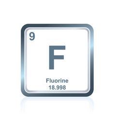 Chemical element fluorine from the periodic table vector