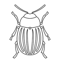 Colorado potato beetle icon outline style vector