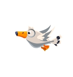 Cute great albatross vector