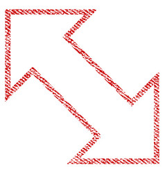 Exchange diagonal fabric textured icon vector