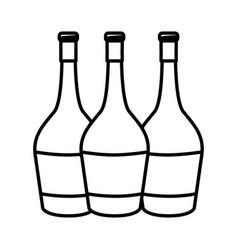 Figure wine bottles taste beverage vector