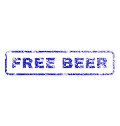 Free beer rubber stamp vector