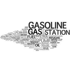 Gasoline word cloud concept vector