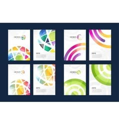 Globe brochure template set abstract arrow vector