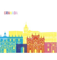 Granada skyline pop vector