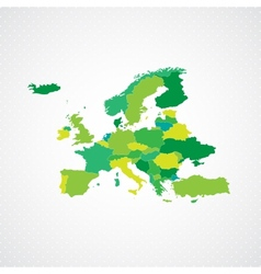 Green europe map background vector