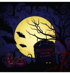 Halloween background for banners vector image vector image