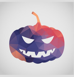 halloween card with pumpkin of triangle vector image