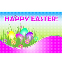 happy easter pink vector image vector image