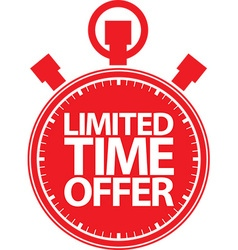 Limited time offer red label vector image vector image
