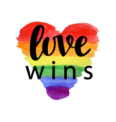 Love wins pride slogan vector