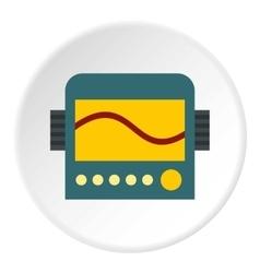 Oscilloscope icon flat style vector
