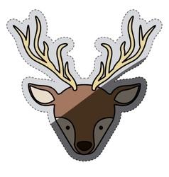Reindeer of christmas season design vector