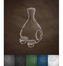 Sake icon vector