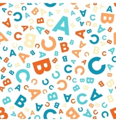 Seamless pattern - different letters abc vector
