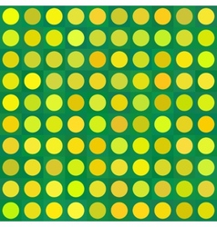 Seamless three color girls polka dot pattern vector image
