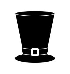 Silhouette top hat saint patrick day symbol vector