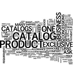 The benefits of catalog sales for your business vector