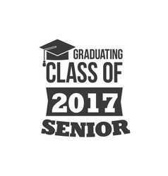 The set of two black colored senior text signs vector