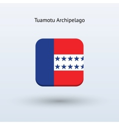 Tuamotu archipelago flag icon vector