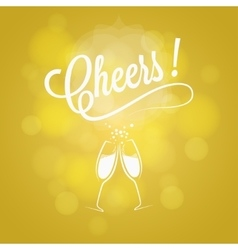 Cheers party sign champagne design background vector