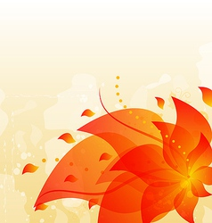 Abstract floral background with copy space vector image