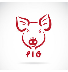 Pig head on white background farm animals vector