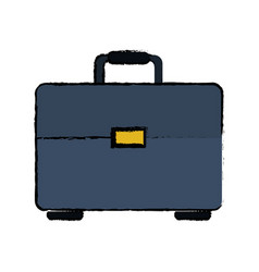 Drawing portfolio suitcase business document vector