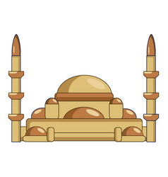 Mosque icon cartoon style vector