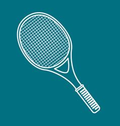 tennis sport equipment icon vector image
