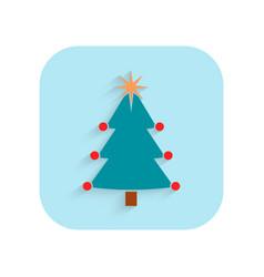 christmas tree flat icon holiday symbol vector image