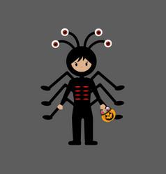 Spider halloween costume vector