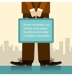 Briefcase in man hands of businessman vector