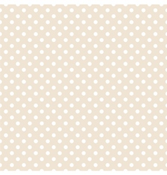 Tile pattern with white polka dots background vector image