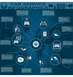 Car service infographics 3 vector